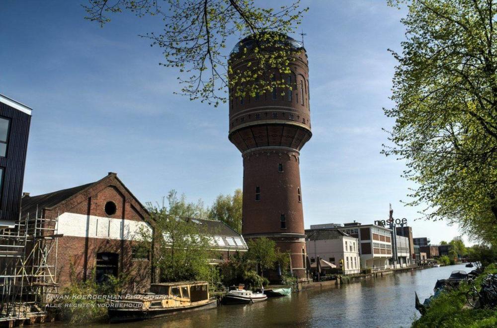 HDR foto watertoren Jutfaseweg in Utrecht | advies en ondersteuning in social selling aan mkb