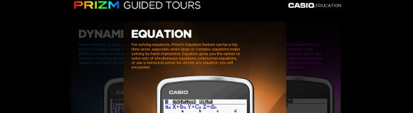 Casio Prizm Guided Tours