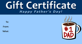 Gift Certificate Father's Day 02