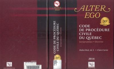 Hubert Reid, Ad. E. - Claire Carrier, <i>Code de procédure civile du Québec, Jurisprudence, Doctrine</i>, Alter Ego, Wilson & Lafleur, 2014.