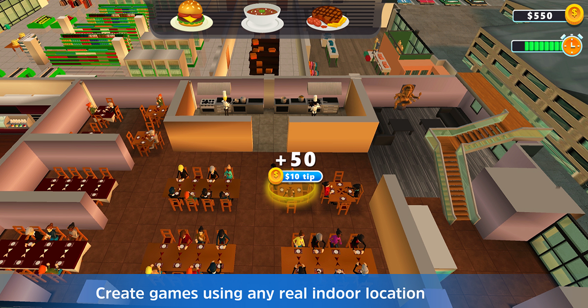 location-based games 3D indoor maps