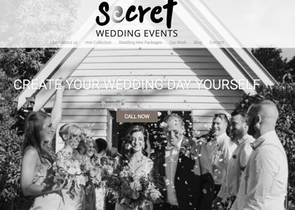 Secret weeding events Website Screenshot