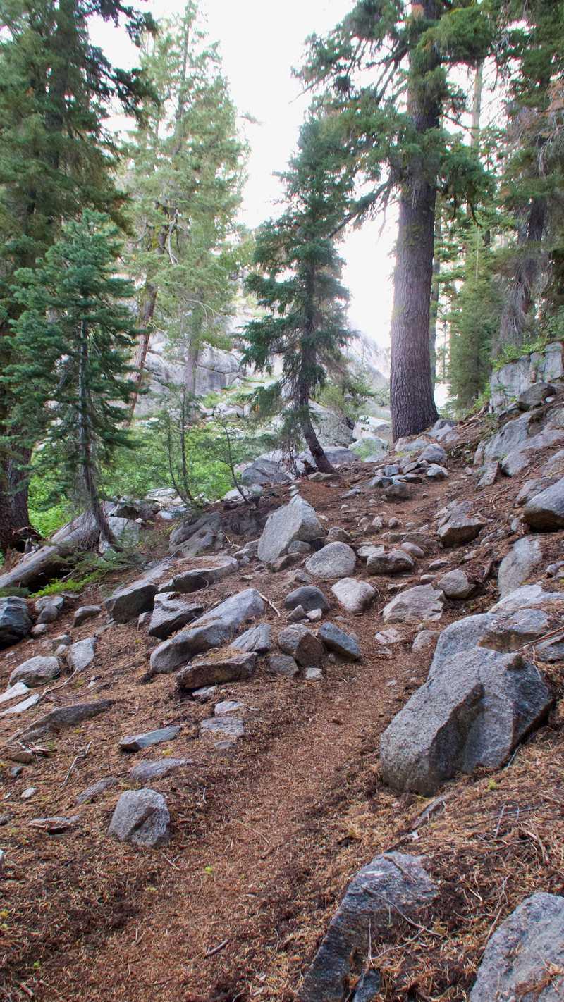 A short climb up Bailey Ridge on the PCT