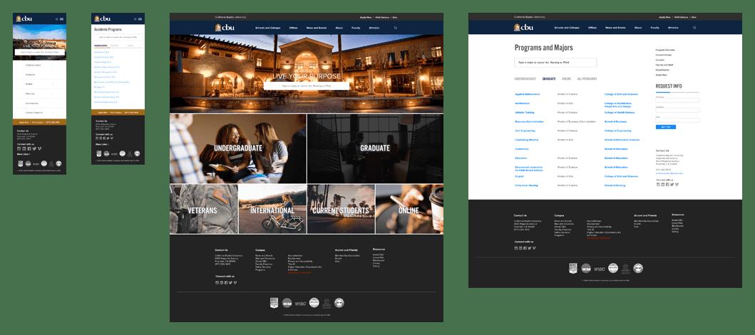 UI design for CBU site