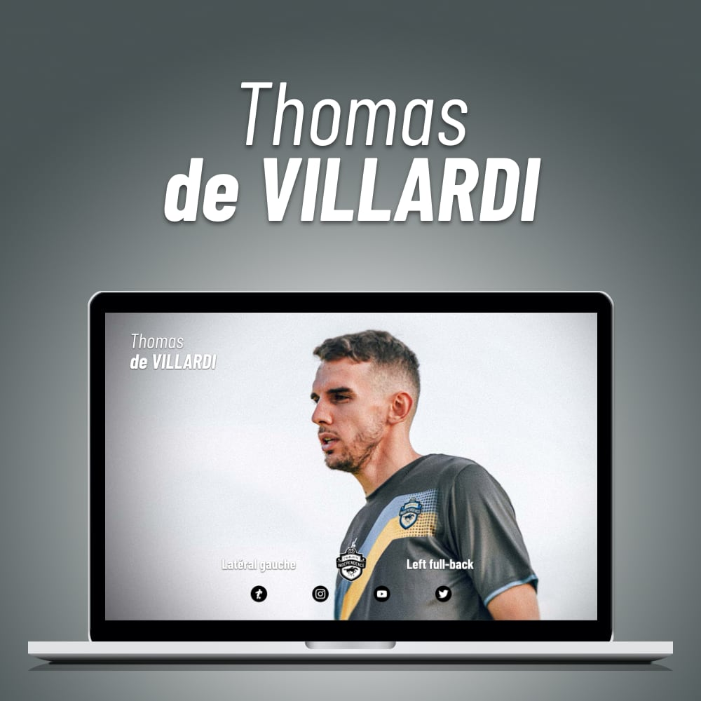 Capture d'écran du site de Thomas de Villardi