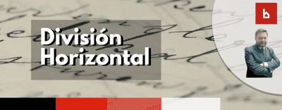 ¿Cómo puedo saber si está hecha la división horizontal?