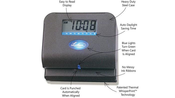 Lathem 800P features