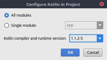 Menentukan versi kompilator kotlin