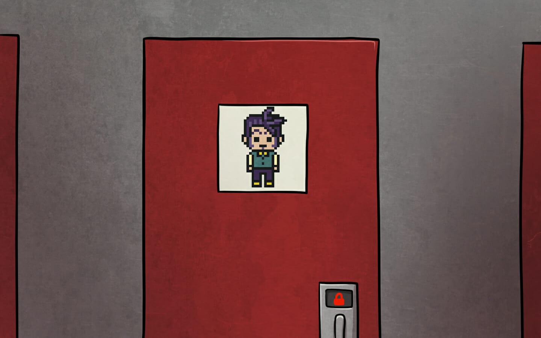 Nikola's door.