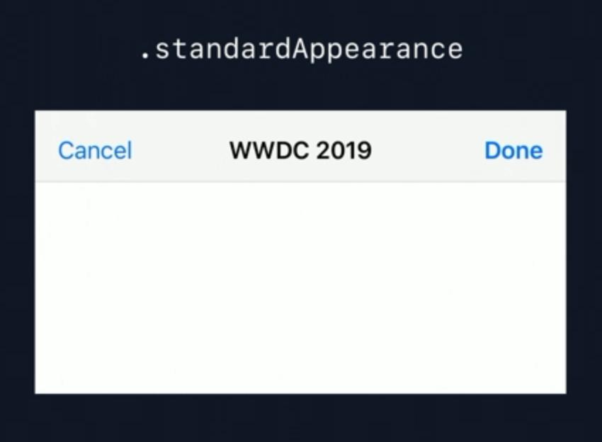 Standard appearance