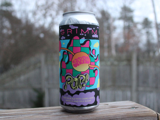 Sabro Pop!, a Kettle Sour brewed by Grimm Artisanal Ales