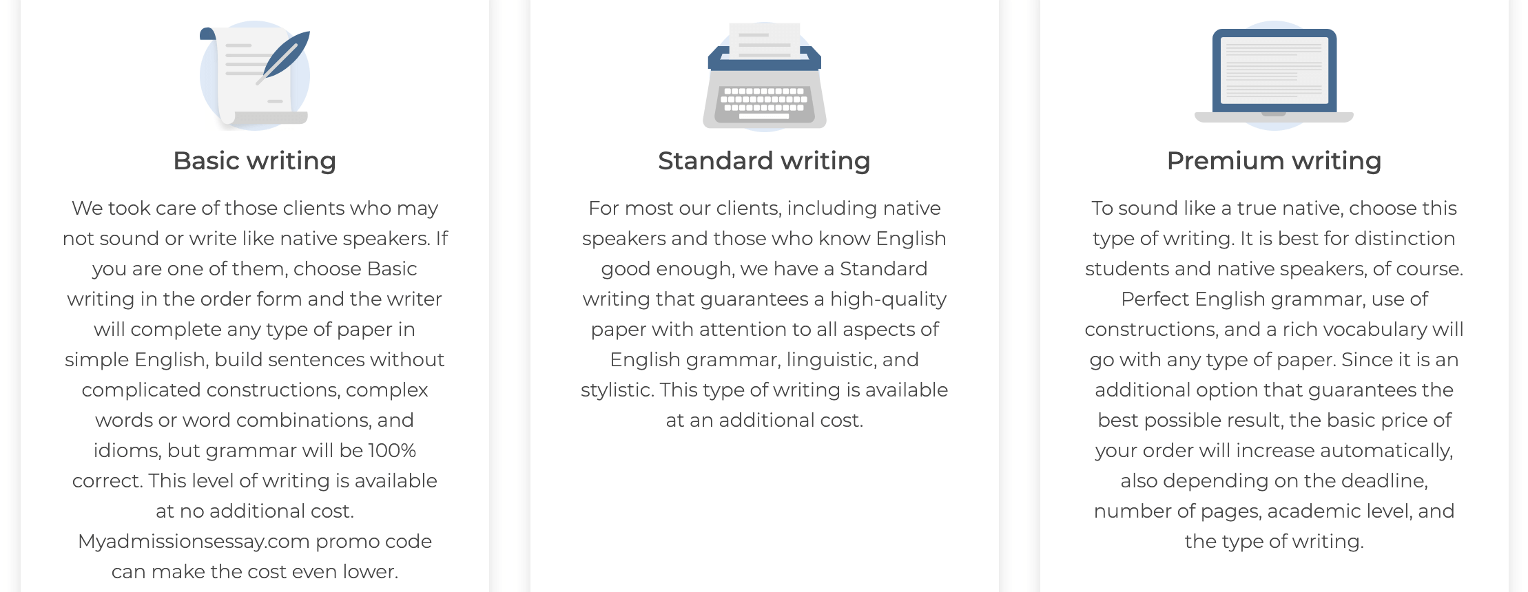myadmissionsessay.com writers levels