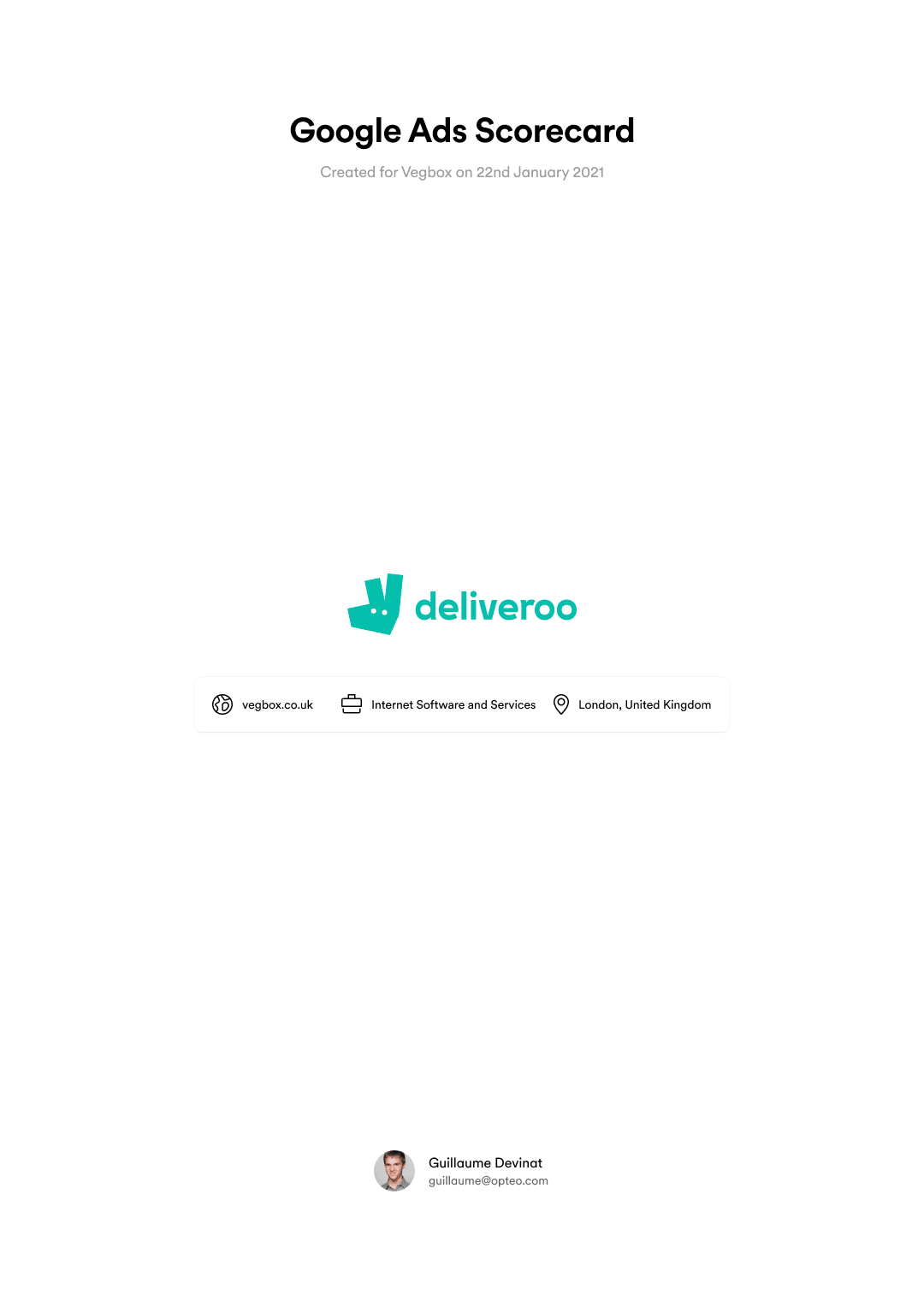 Exported Deliveroo scorecard cover.