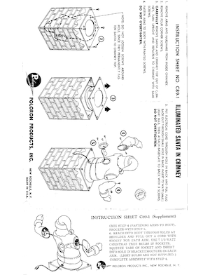 Poloron Products Illuminated Santa in Chimney #C89-1 Instruction Manual.pdf preview