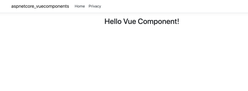 vue component on page