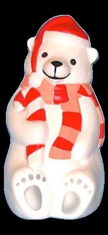 Polar Bear With Scarf photo