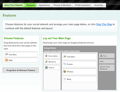 Feature Selection Page