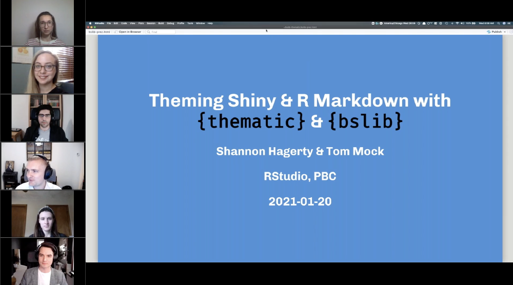 Theming Shiny and RMarkdown with {thematic} & {bslib}