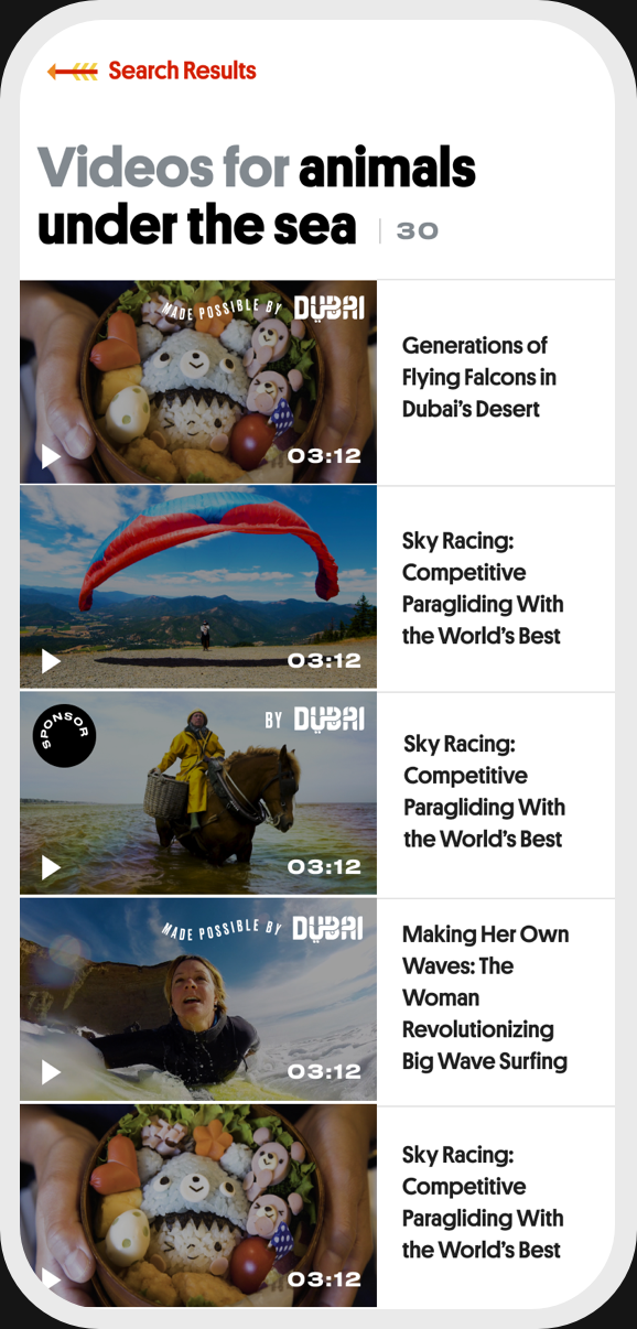 Great Big Story mobile image carousel four