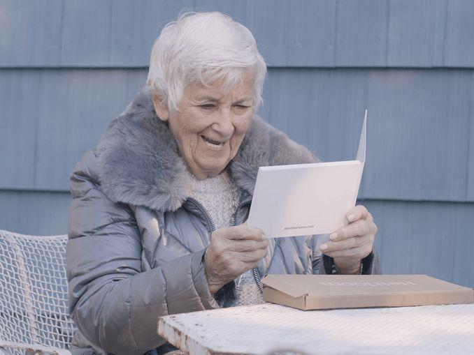 Woman watching Heirloom video book