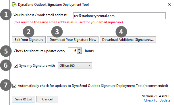 email signatures download folder structure