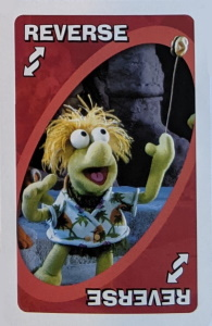 Fraggle Rock Red Uno Reverse Card