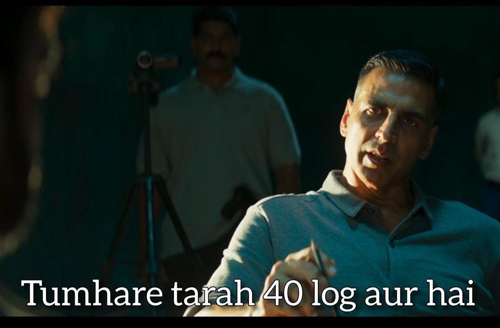 Akshay Kumar in Sooryavanshi trailer. Tumhare Tarah Aur 40 Log Hai