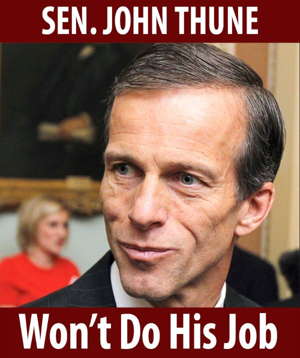 Senator Thune won't do his job!