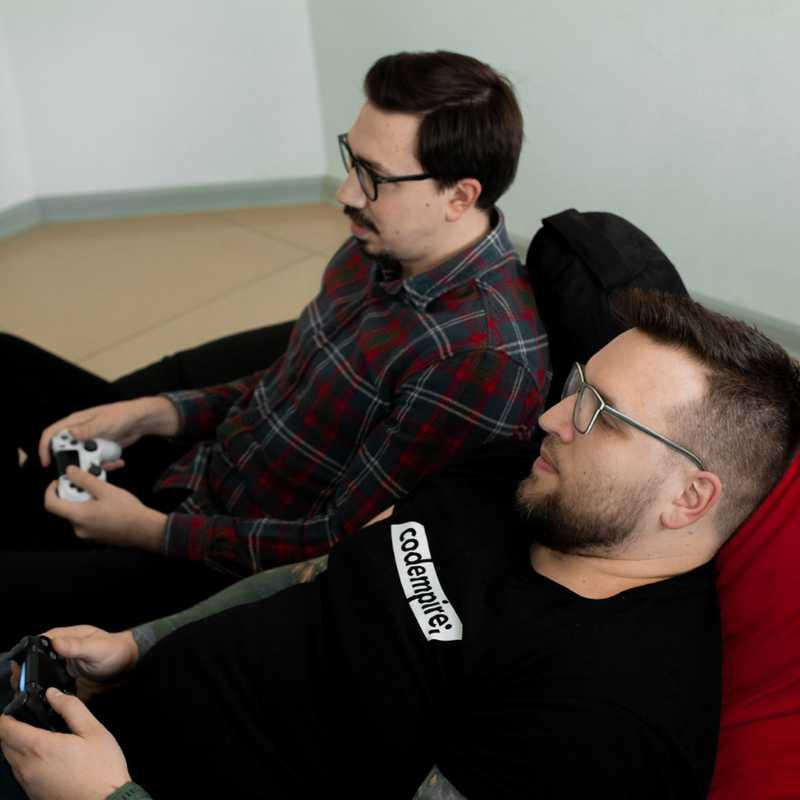 Codempire developers play console games