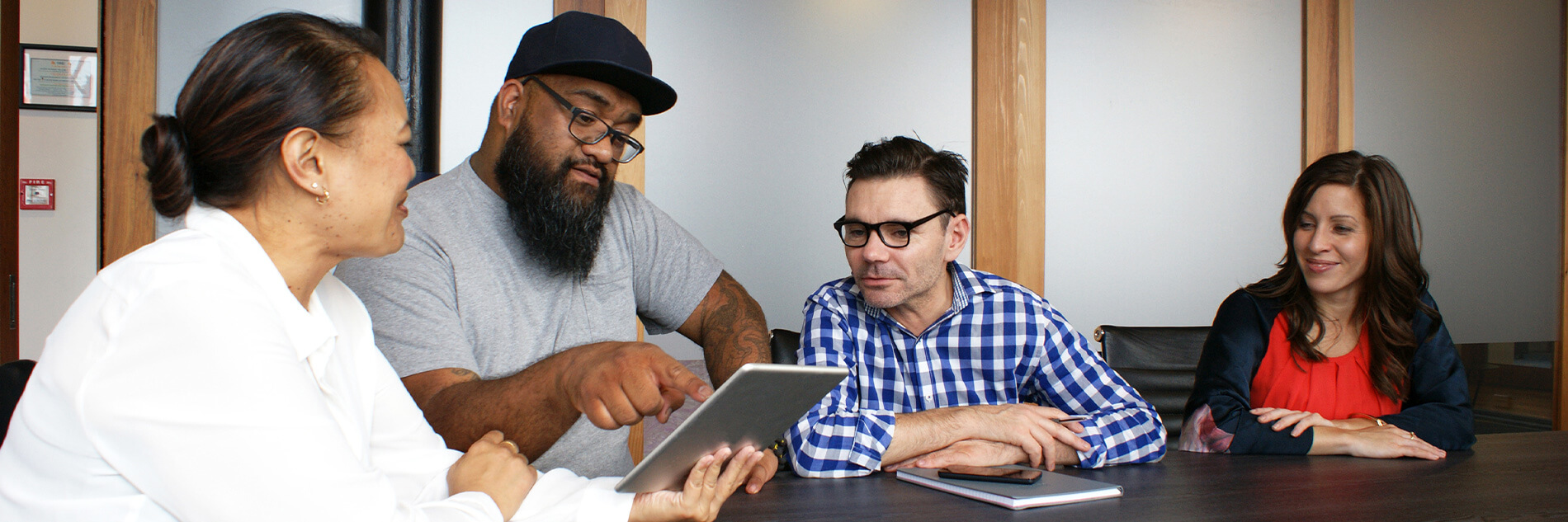 Two Boost developers working together on an Agile development project.