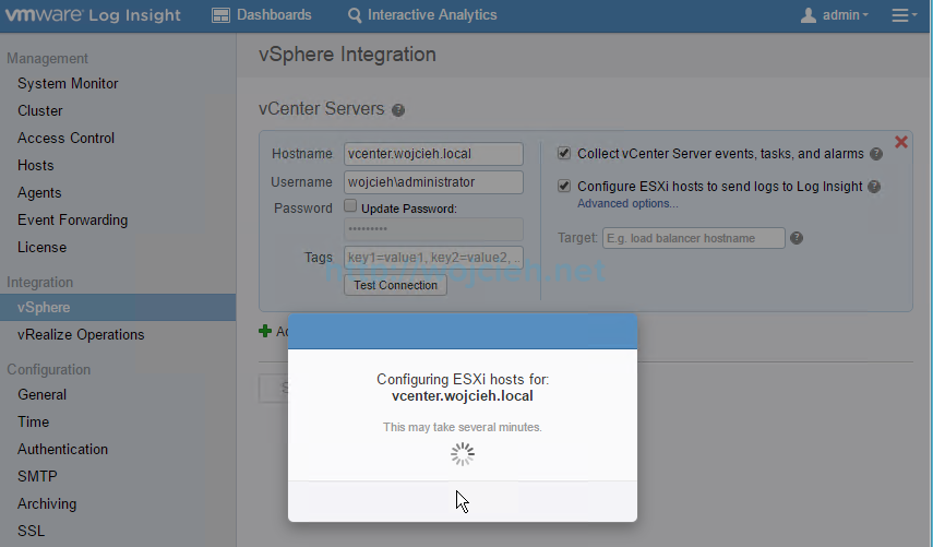 VMware vRealize Log Insight - Installation and Configuration - 19