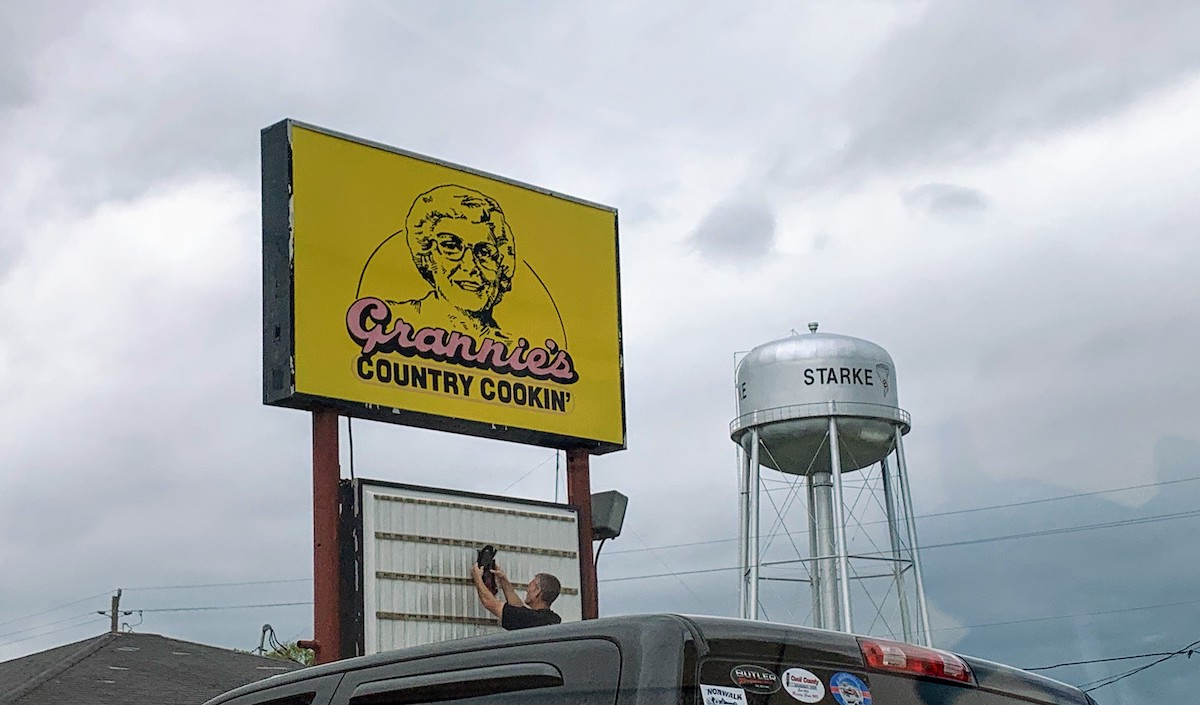 Grannie's is a famous stop in Starke, one day we'll stop for a full-service lunch