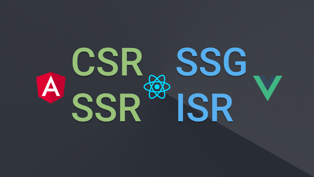 What is CSR, SSR, SSG, ISR (Different Rendering Strategies) and which framework does it better (Angular, React, Vue)