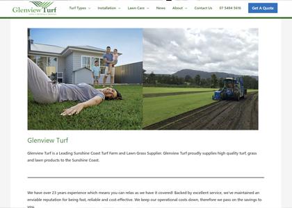 Glenview Turf Website Screenshot