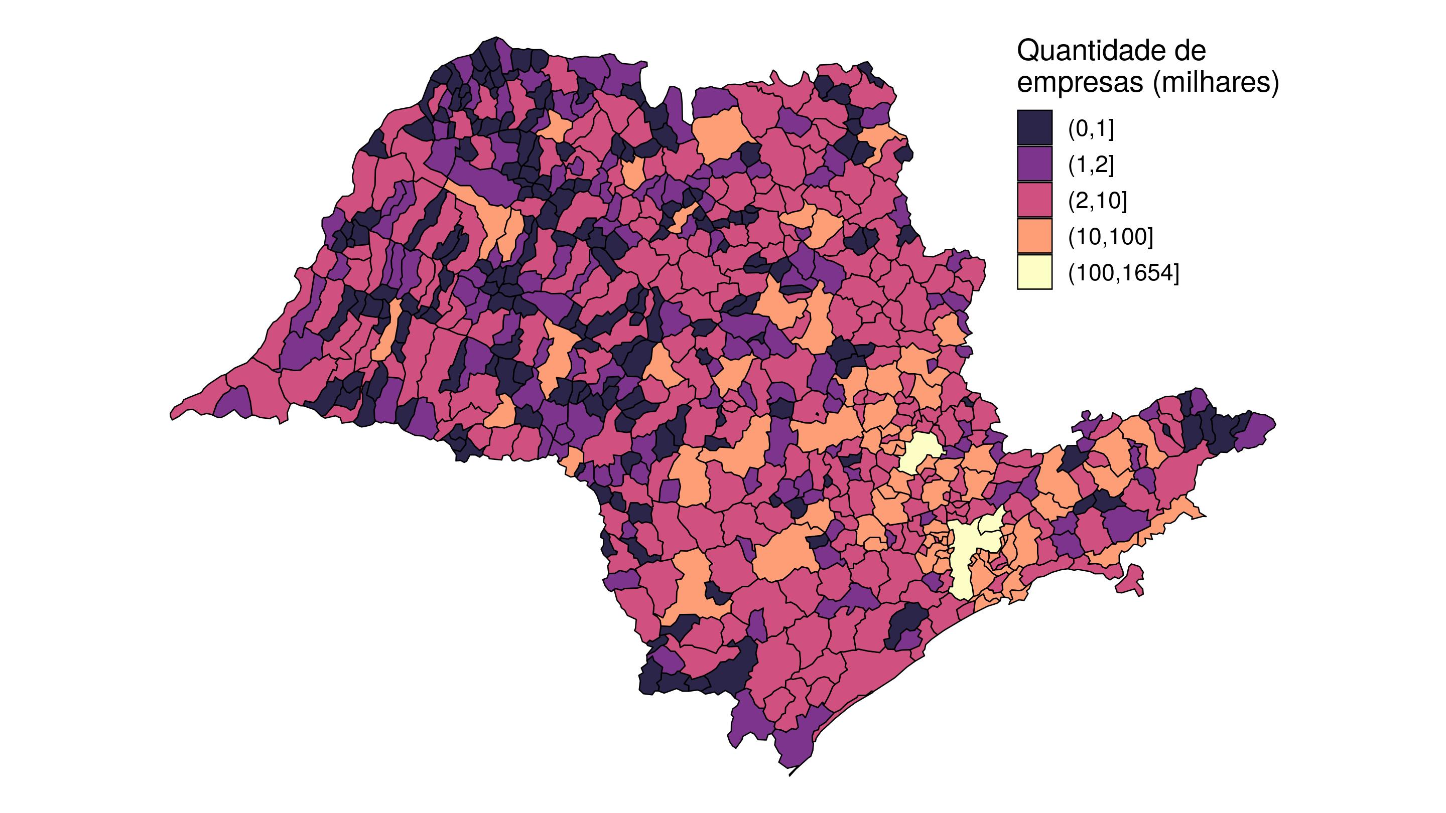 Mapa dos municípios de origem.