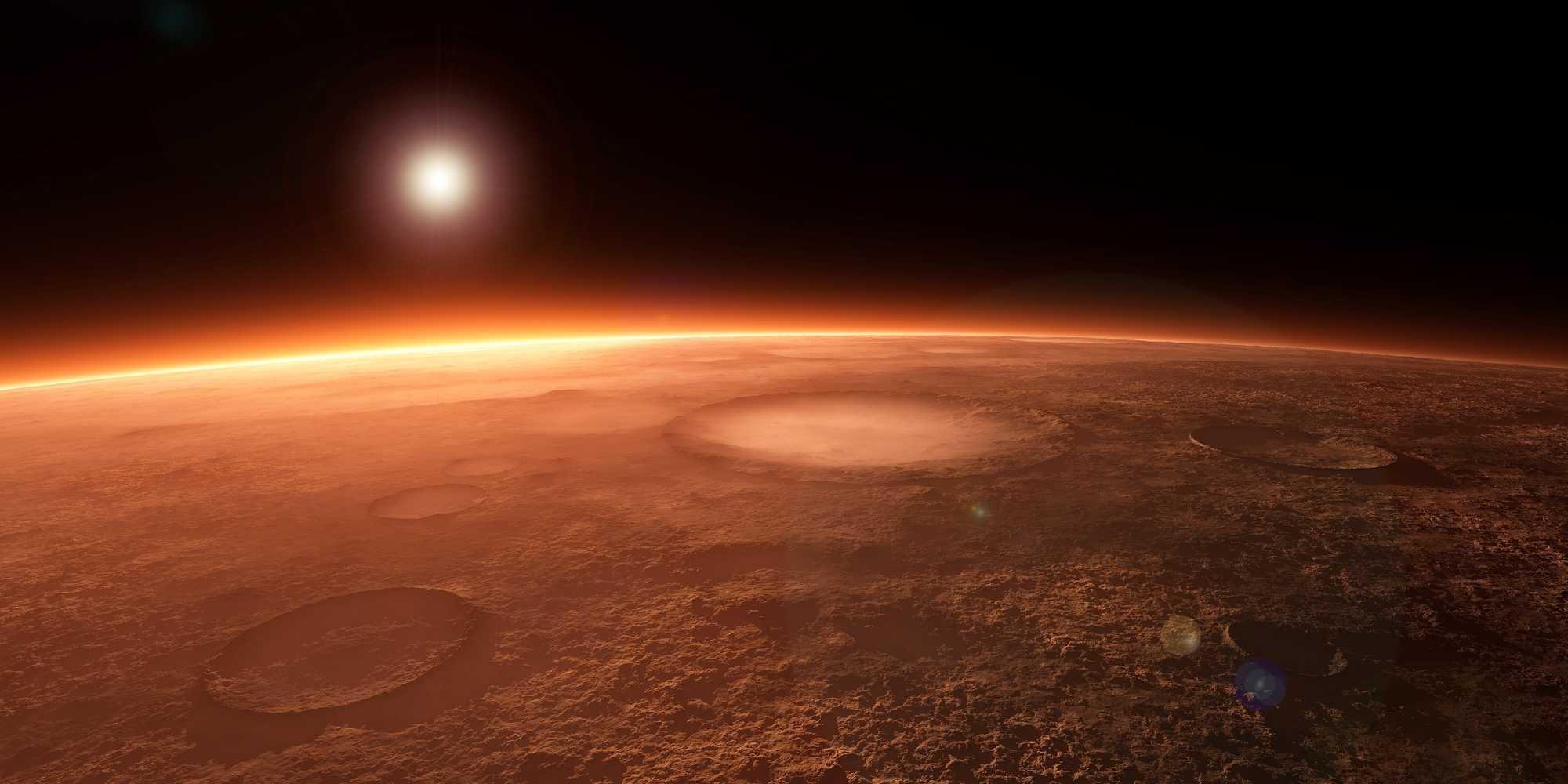 Mars from orbit