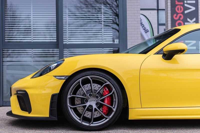 Porsche 718 Cayman GT4 4.0, 420 PK, RacingGelb, Sport/Chrono, Camera, 18/Way, 2900 KM, 2020, BTW!! afbeelding 7