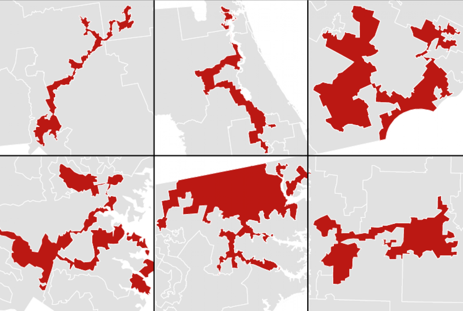 Examples of Gerrymandered Districts