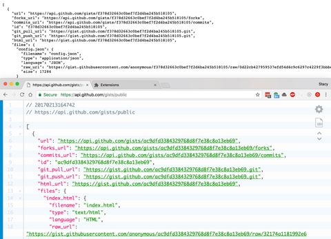 clean and messy json screenshots
