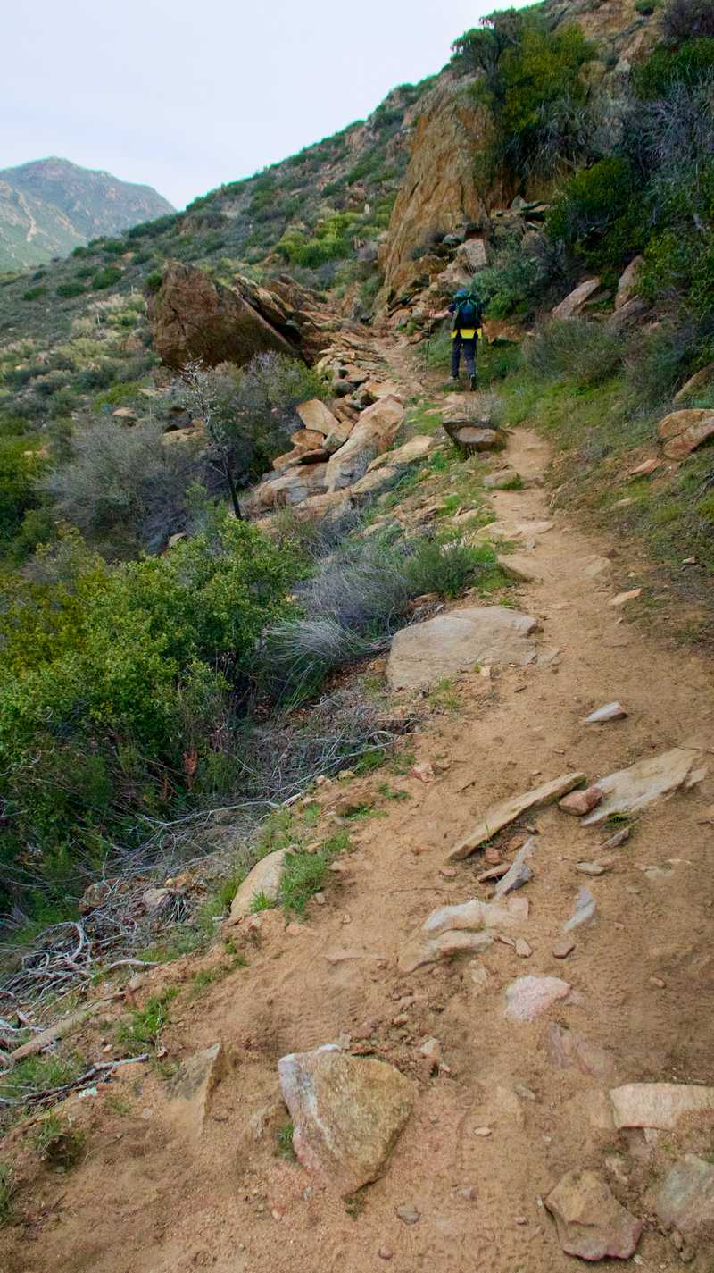 The trail continues to climb