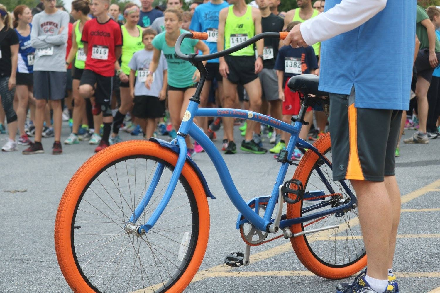 Caleb's Dream Bike at The HARTZ Physical Therapy Fall Blast 5k in 2016