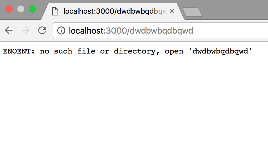 Node Static File Server Error