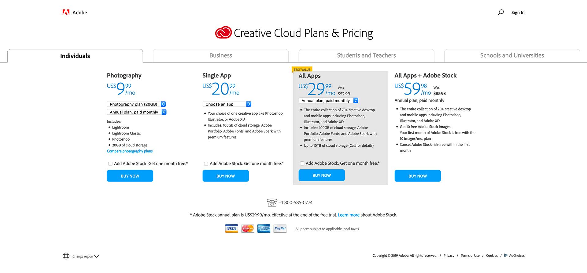 Adobe - BestPricingPages