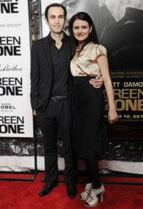 Abdalla with his wife, Cressida Trew, at a screening in New York in 2010. Photograph: Mehdi Taamallah/ABACA USA/Empics Entertainment