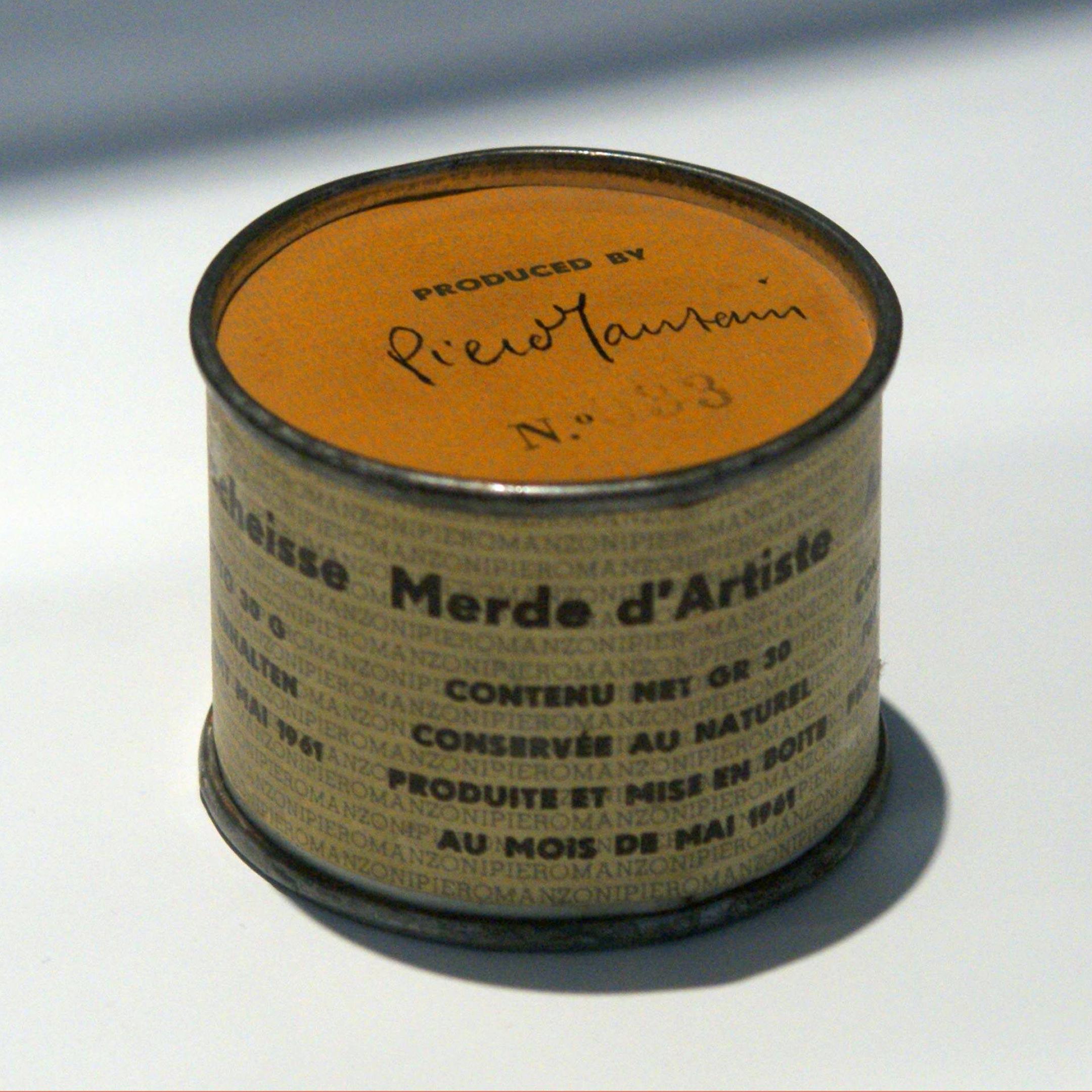 Пьеро Мандзони «Дерьмо художника», 1961. Фото: ru.wikipedia.org