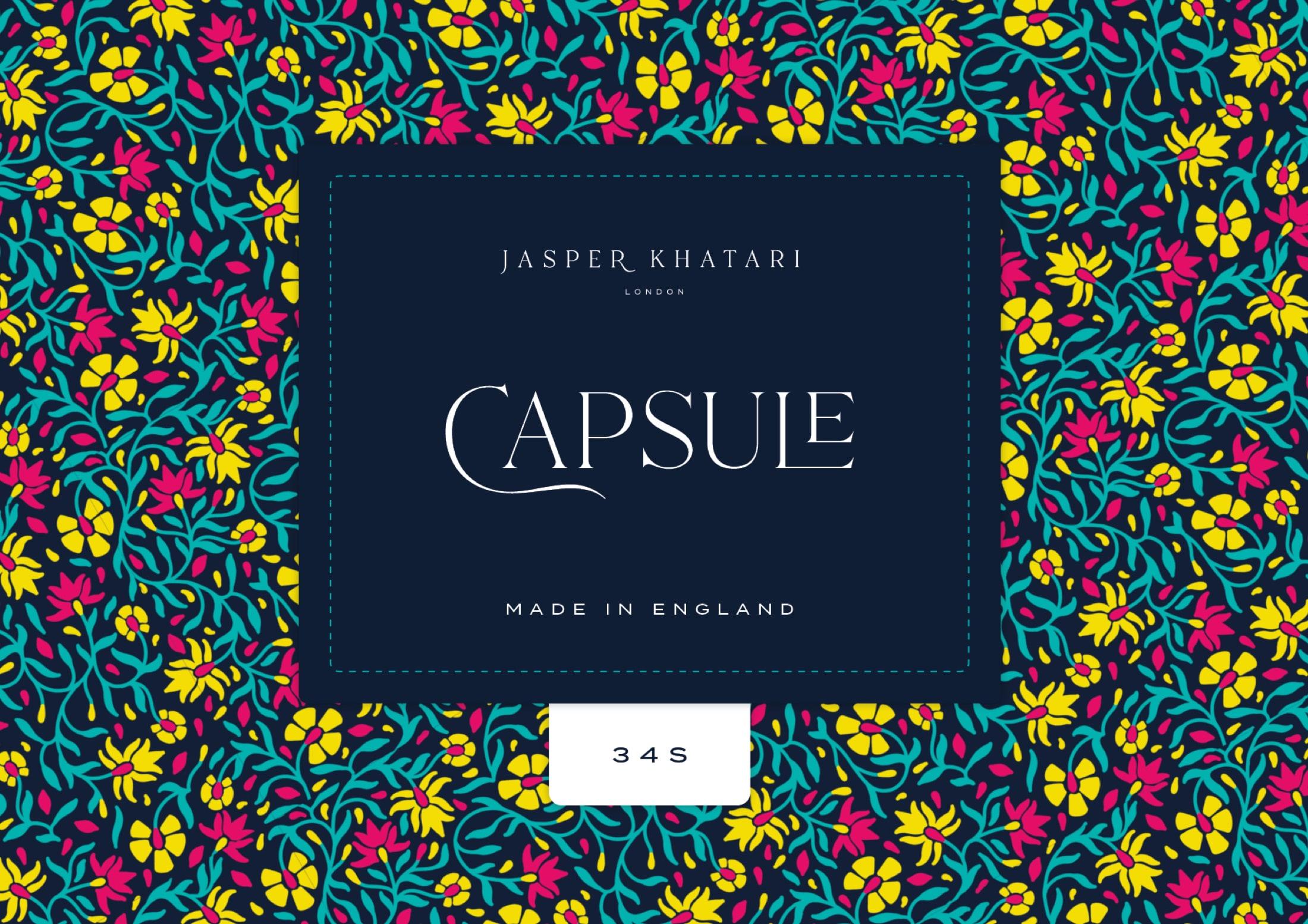 Woven label design for Savile Row tailor, Jasper Khatari