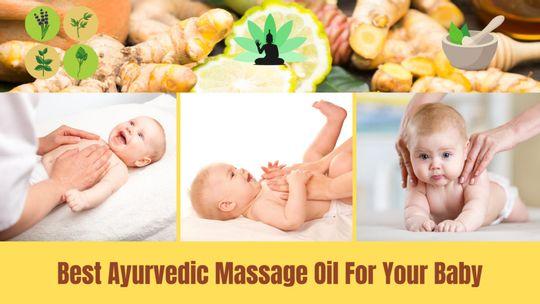 Best Ayurvedic oil for newborn baby massage in India [2021]-( ͡° ͜ʖ ͡°) - Featured image