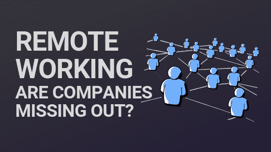 Blog post header image of a remote workforce with the blog title