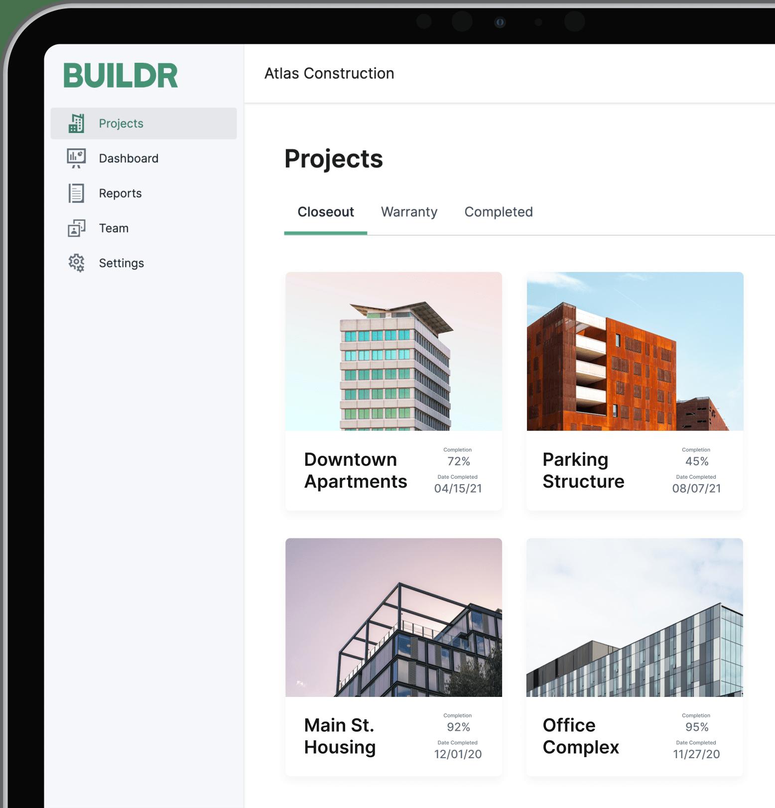 Buildr on an iPad