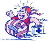 First Aid Management Mascot